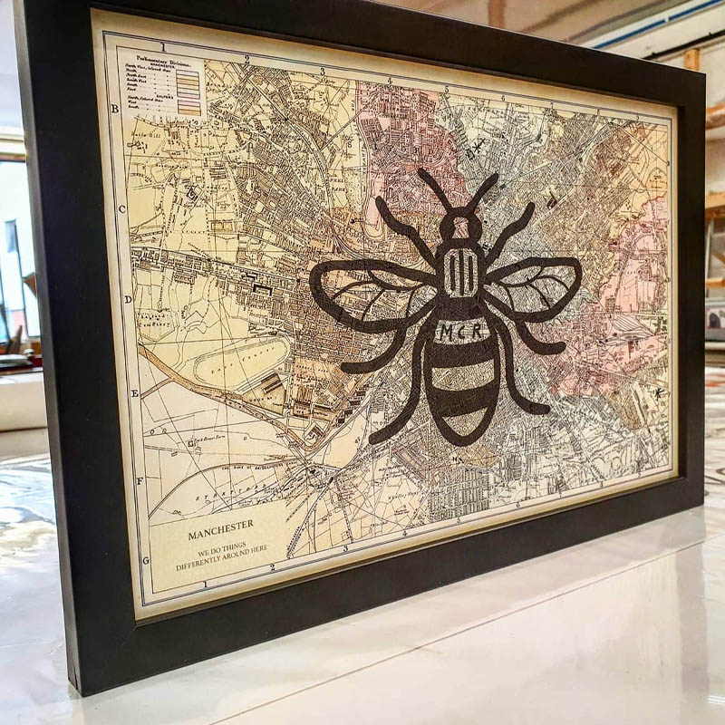 Manchester Bee Wall Art