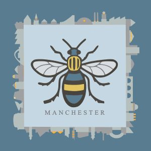 Sue Scott Manchester Bee Print