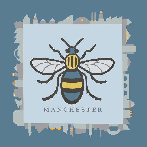 Sue Scott Manchester Bee Print