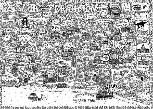 Brighton Doodle Map