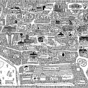 Chesterfield Doodle Map