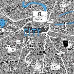 Manchester City Doodle Map