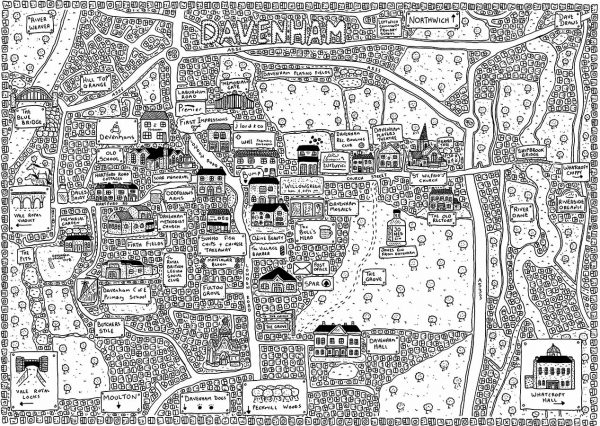 Davenham Doodle Map