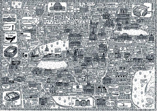 Edinburgh Doodle Map