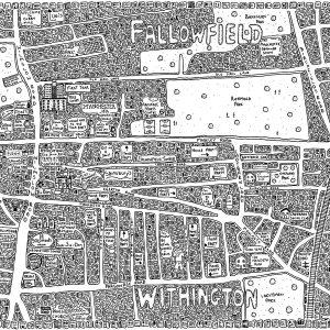 Fallowfield Doodle Map