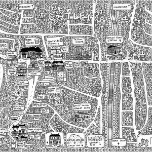Gatley Doodle Map