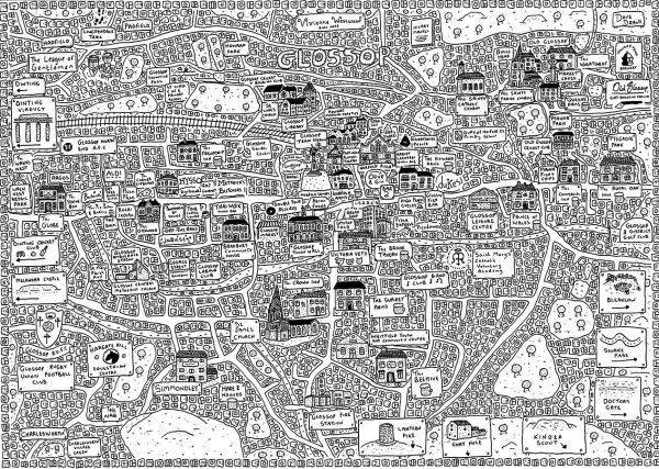 Glossop Doodle Map