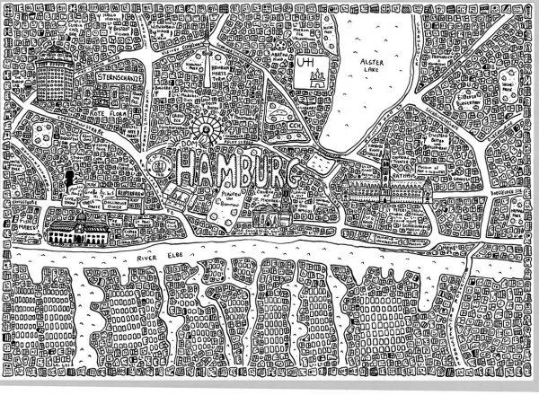 Hamburg Doodle Map