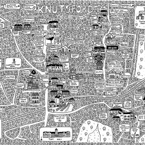 Knutsford doodle map