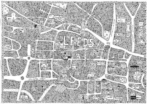 Leeds doodle map