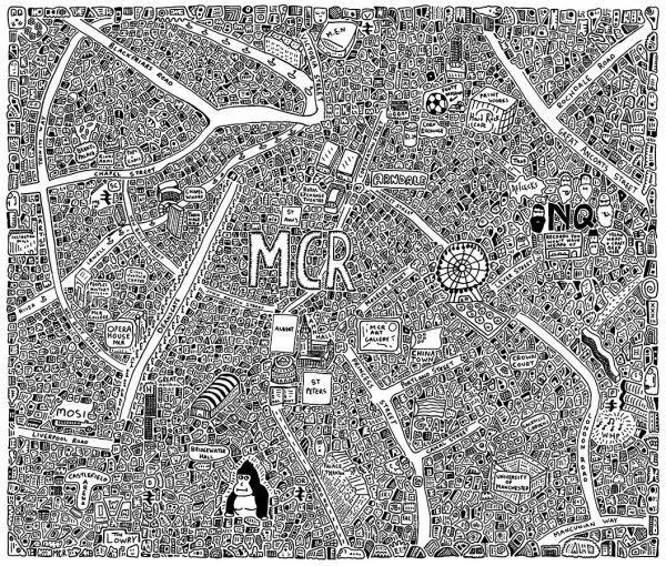 Manchester Doodle Map