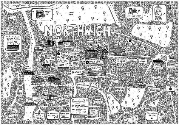 Northwich Doodle Map