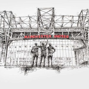 Old Trafford Mat Pickles Sketch