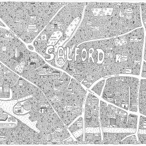 Salford Doodle Map