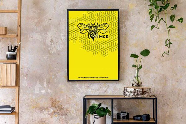 Manchester Bee Honeycomb frame