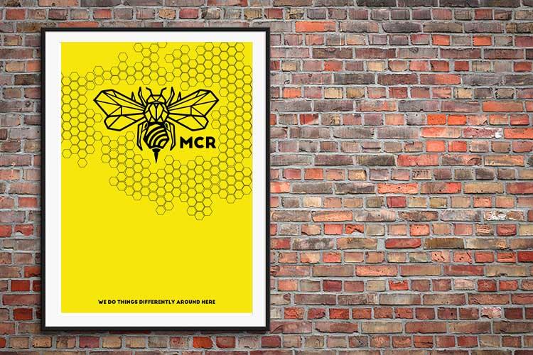 Manchester Bee Art Prints