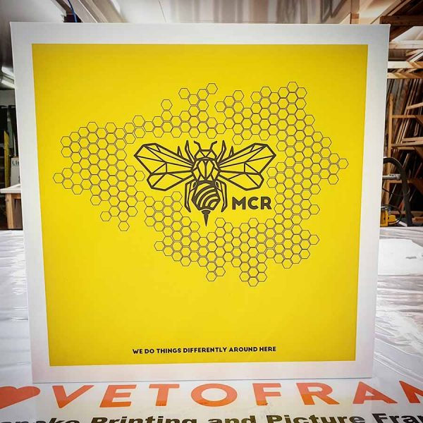 Manchester Bee Honeycomb canvas 3