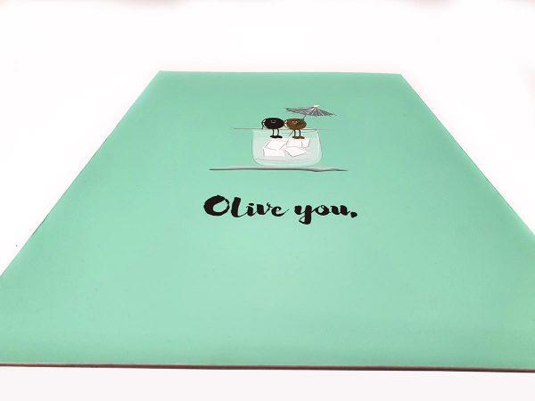 Olive You Print Design
