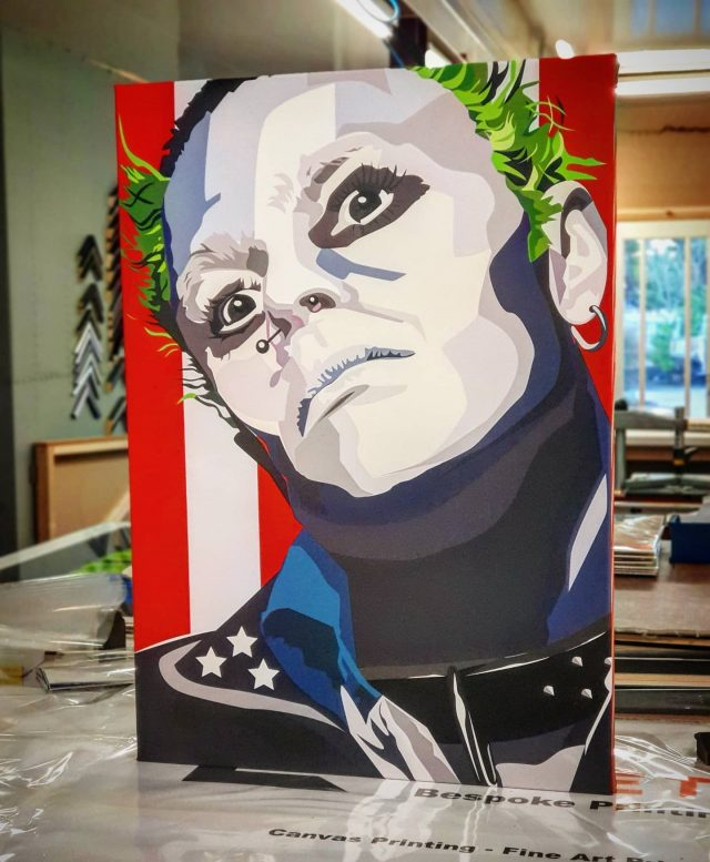 Last picture of the day. #theprodigy #art from our online Art Shop https://lovetoframe.com/product/the-prodigy-keith-flint/  #lovetoframemcr #everybodyintheplace #keithflintforever #prodigy